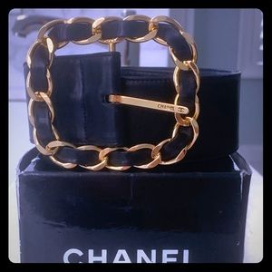 Chanel Gold Chainlink Buckle Belt